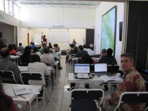Ben at the Camara de Bienes Raices or Costa Rica Chamber of Real Estate course.