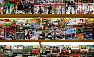 A Wall of Magazines