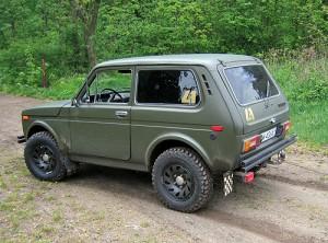 Niva Russian made car.