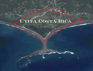 Satellite view of Uvita Costa Rica