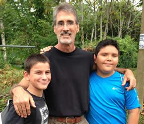 New friends in Costa Rica.