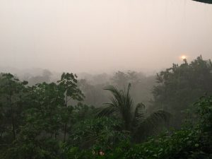 Costa Rica rainy season sunset