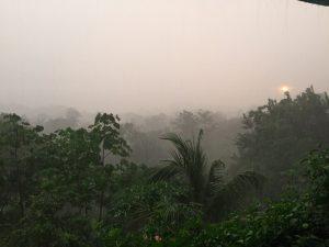 Costa Rica rainy season sunset
