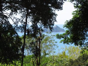 View of the Roca Ballena from this property located between Uvita and Ojochal