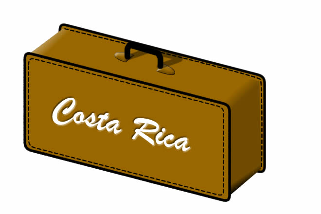 Suitcase for a move to Costa Rica